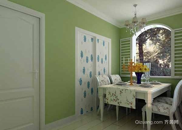 绿色系简欧风格客厅装修搭配效果图