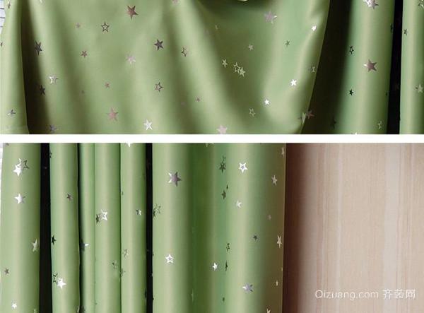 淡湖绿色欧式窗帘