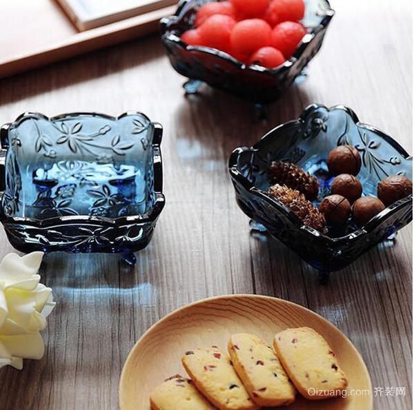 高颜值玻璃印花餐具 透明也可是艺术