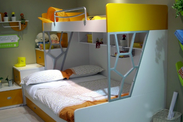 七彩人生高低儿童床优点