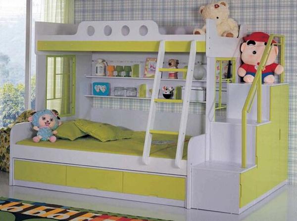 七彩人生高低儿童床