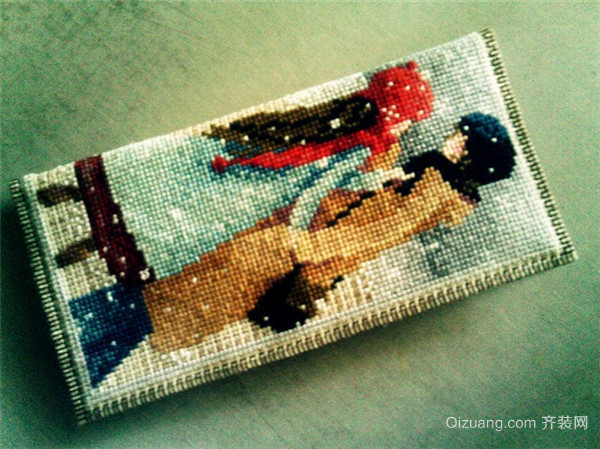 十字绣钱包的缝合步骤