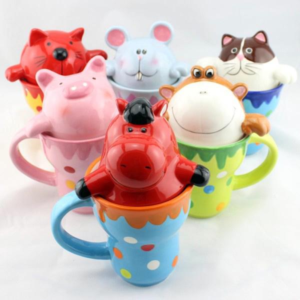高颜值动物水杯——彩色陶瓷