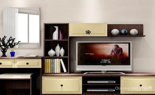 电视机柜的制造设计上