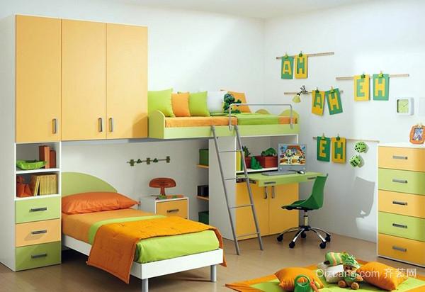 暖色调儿童房
