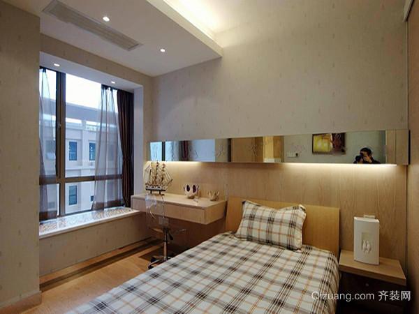 轉角飄窗定制轉角收納的抽屜,既不影響臥室采光,又為臥室增加了不少儲