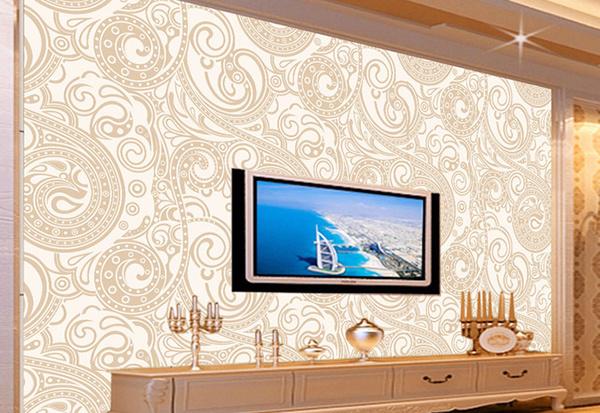 电视背景墙墙纸选购