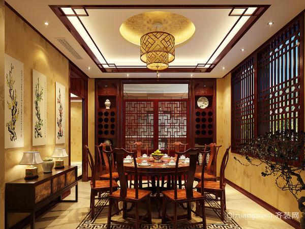 四,中式餐厅吊顶设计原则之吊顶造型设计要合理