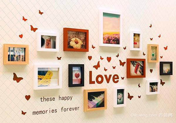 照片墙最美设计方案四,黑白的相框组合照片墙