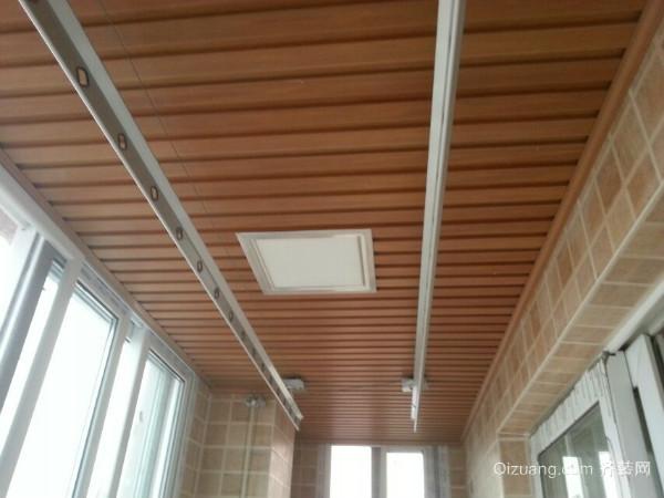 装修流程 施工阶段 木工 > 阳台生态木吊顶安装步骤 你家阳台是这么装