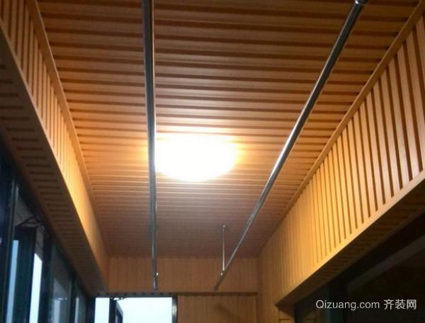 阳台生态木吊顶安装步骤