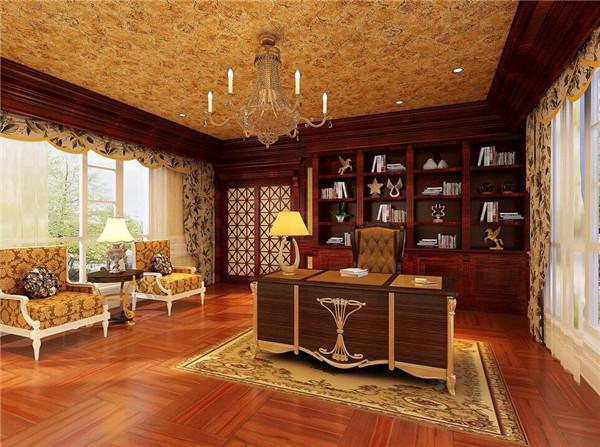 欧式书房装修颜色怎么搭配好
