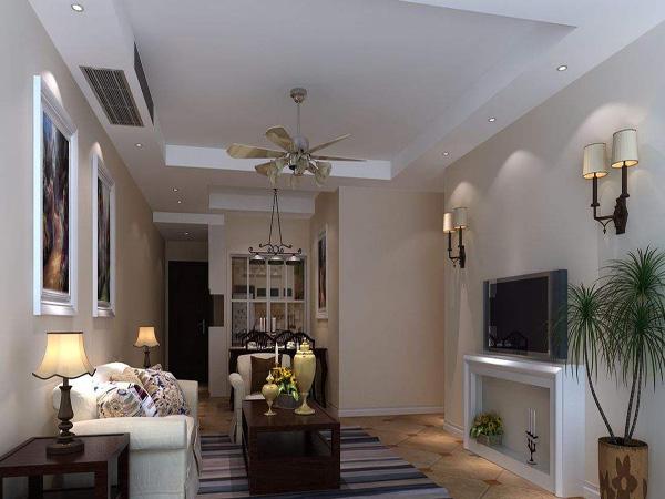 客厅装修吊扇灯