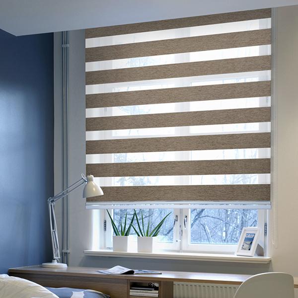 飘窗百叶窗帘安装方法