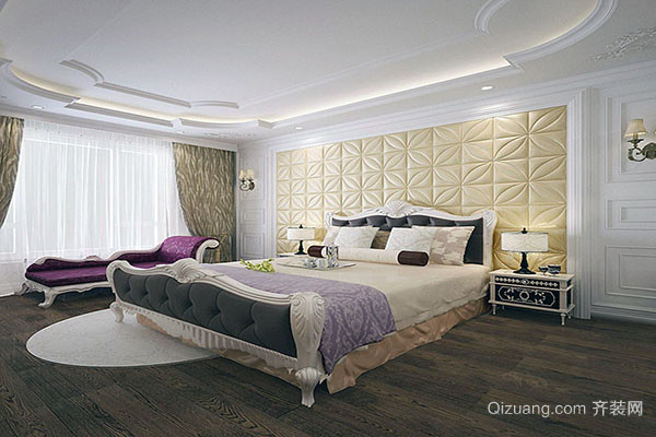 欧式卧室软包背景墙的优势有哪些 打造奢华卧室-齐装网