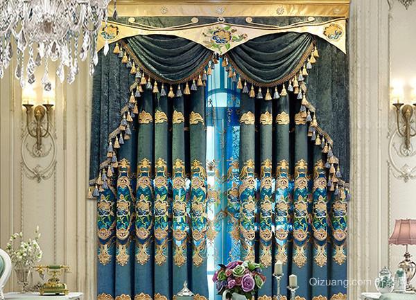 欧式豪华窗帘挑选细节 家居更显奢华-齐装网