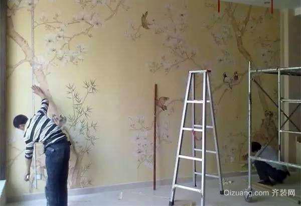 在墙上刷一层膜 我们在粘贴墙纸前,提前可以先在墙上刷一层膜,刮腻子