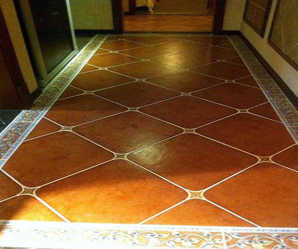 菱形瓷砖铺贴