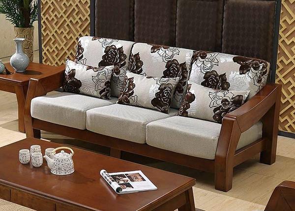 实木茶几怎么架设配沙发 伸荐你叁种方案