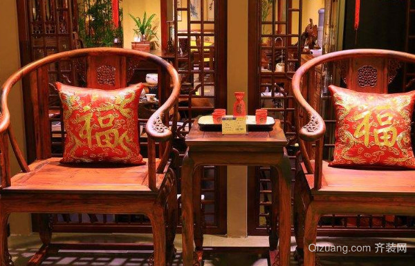 餐桌布艺套装图片红木