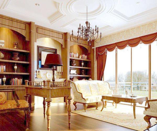 欧式书房装修也要看整体 让阅读环境更加舒适