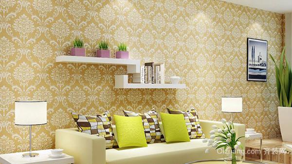 四,贴墙纸步骤——弹垂直线或程度线 首先在室内正面向室内死角按壁纸