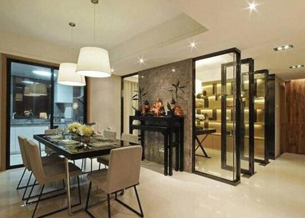 客厅玻璃隔断设计
