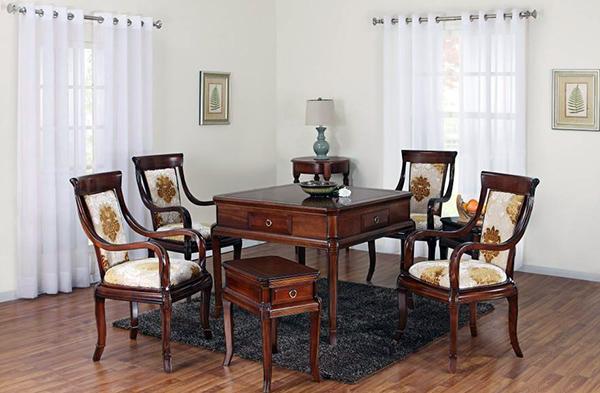自动实木餐桌
