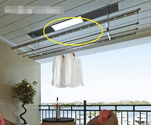 阳台烘干式晾衣杆