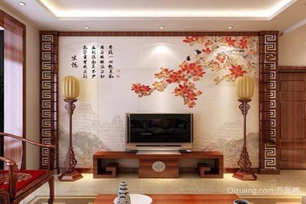 家庭装修电视背景墙