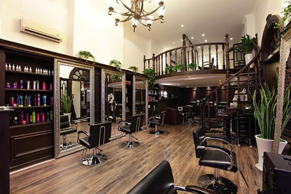 小型美发店简单装修 美发店装修设计图