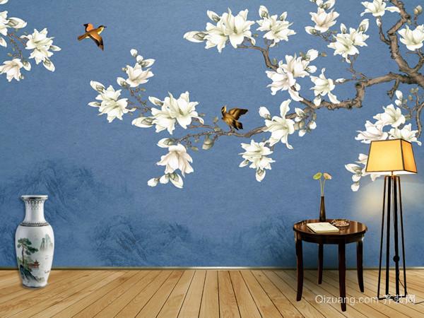 欧式古典宫廷花鸟墙纸