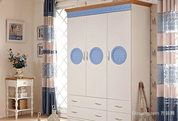 德维尔蔚蓝橡木衣柜