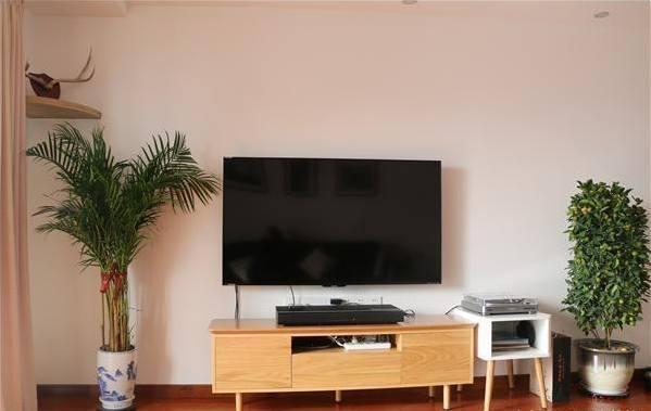客厅电视墙就是简单的刷大白