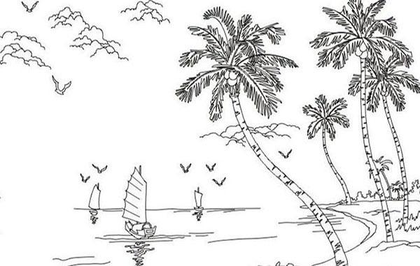 椰子树简笔画的分析介绍 表现方法如何