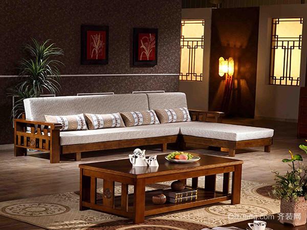 实木沙发三