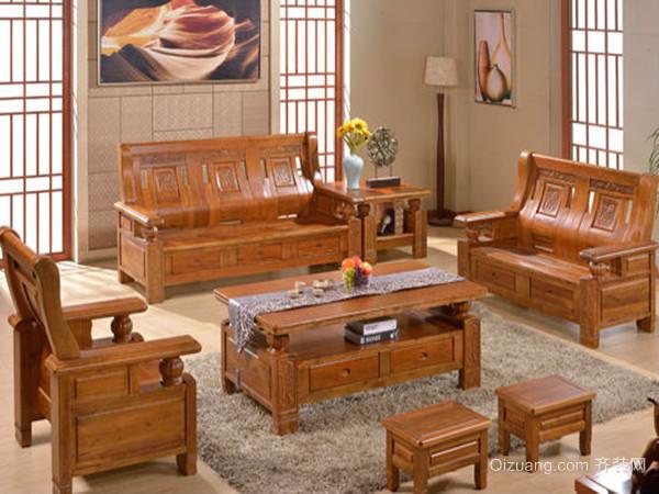 实木沙发二