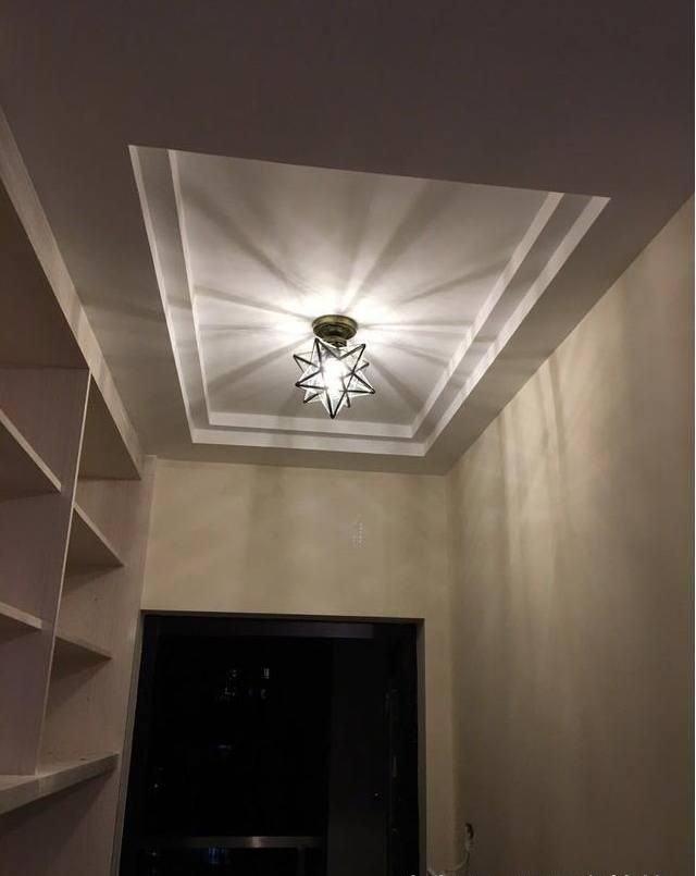 玄关五角星形状吊灯灯具