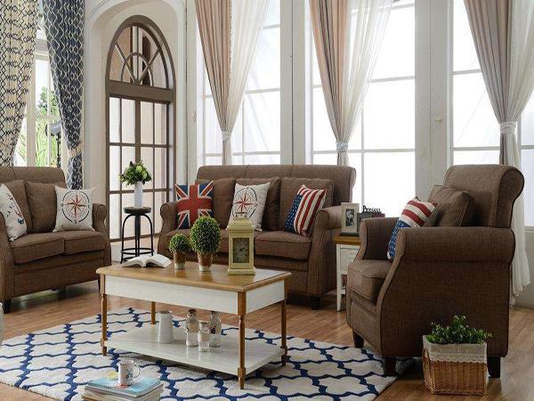 咖啡色沙发配什么颜色窗帘好