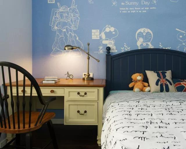 140㎡现代美式三居室颜值气质超高 全包25万花的值