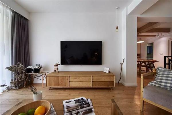 溧阳208平极简原木风装修案例 亲近自然更舒适