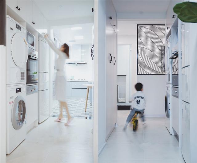 洗衣机和烘干机叠放