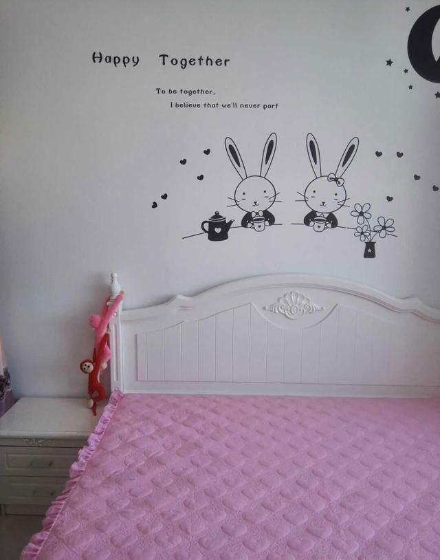 儿童房是刷的大白墙