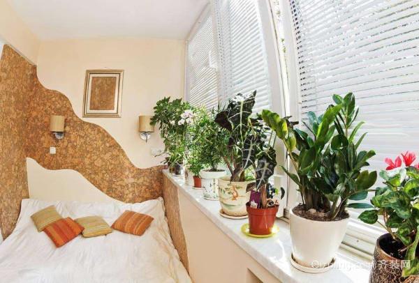 卧室植物摆放