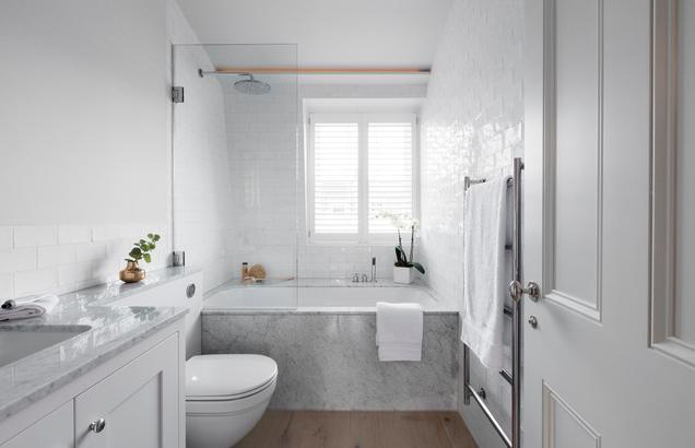 缩小浴室家居的尺寸