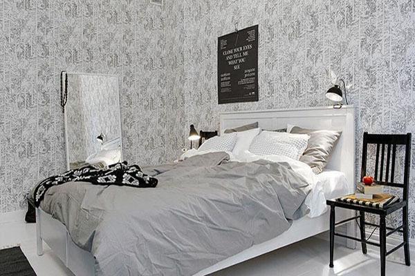 卧室墙纸颜色推荐