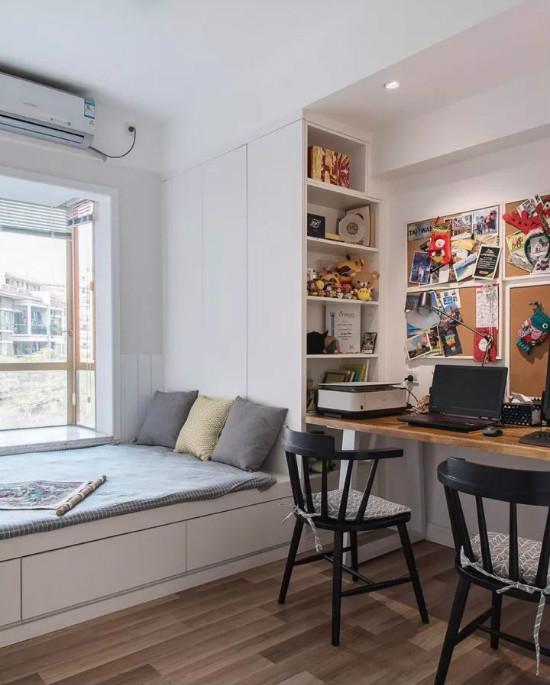 小卧室书桌柜的设计方案 让你家空间完美利用