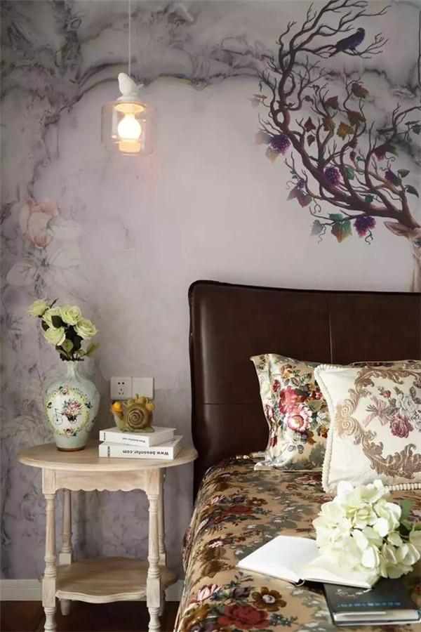 广汉110㎡三居室装成美式小印花 透着清新自然风