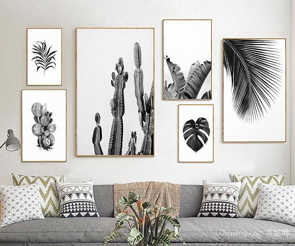 沙发背景墙装饰画