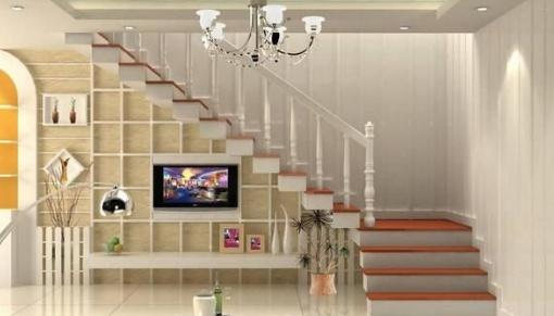 客厅楼梯下空间设计 楼梯下的三角空间装饰利用